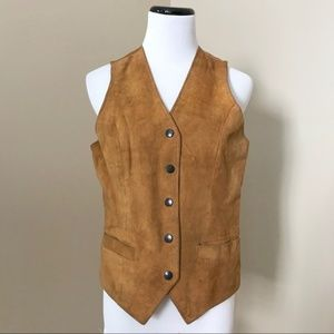 🌱Vintage Brown Suede Leather Vest